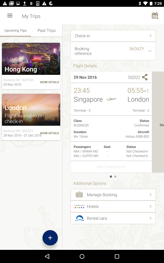 Singapore Airlines- screenshot