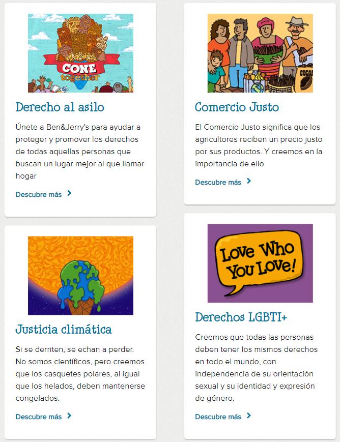 Storytelling de Ben & Jerry's: causas sociales