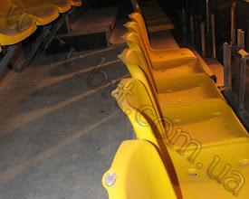 Photo: Номерки на стулья. Пластик серебро-черный. Лазерная гравировка номера. Киевский Дворец Спорта