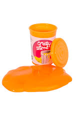 Crazy slime Orange utanför burken
