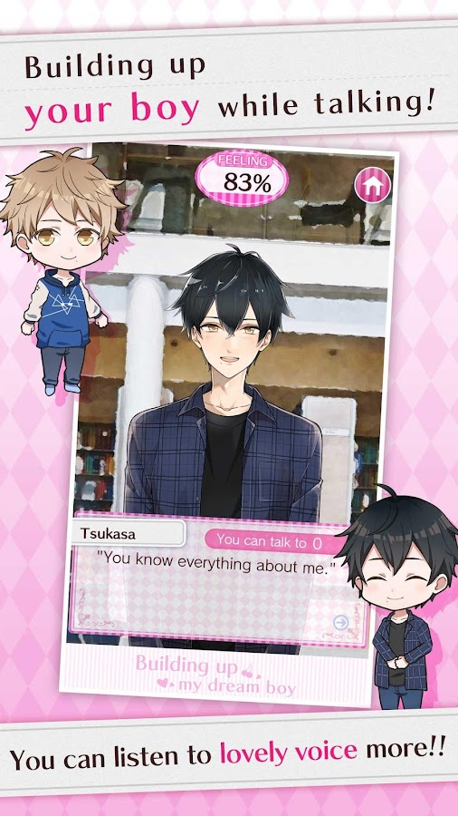 Building up my dream boy_japan dating simulation- screenshot