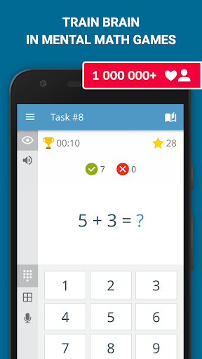 Math games: arithmetic, times tables, mental math screenshots 1