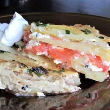 Crustless Potato Brunch Quiche Recipe