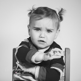 Grumpster by Vix Paine - Babies & Children Child Portraits ( toddler, black and white toddler, chil, chair, grumpytoddler, black and white, portrait, cute, child )