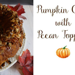 Pumpkin Cake with Pecan Topping