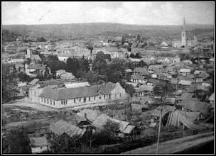 Photo: Panorama - in jurul anilor 1930 - Catedrala in constructie, abatorul