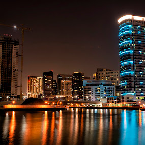 Nightscape, marina, night, city, dubai by Avi Chatterjee - Buildings & Architecture Other Exteriors