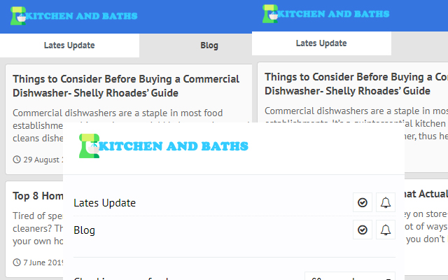 Kitchens and Baths - Latest Blog News Update