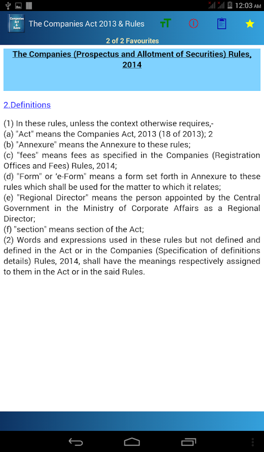 India - Companies Act 2013 & Rules- screenshot