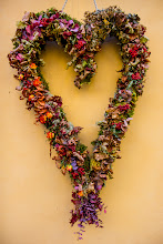 Photo: I'm picking up the last remains of project 52, which I still have a couple of missed submissions to. Mostly I use photos taken at the right time (or close). Week 48 had the theme Flowers, so here's a beautiful autumn wreath I found hanging on a wall.  For #2012project52 by +Gretchen Chappelle, +Shelly Gunderson, +Gary Munroe, +Greg Berdan, +Sue Butler, +LaDonna Prideand +Kate Church.