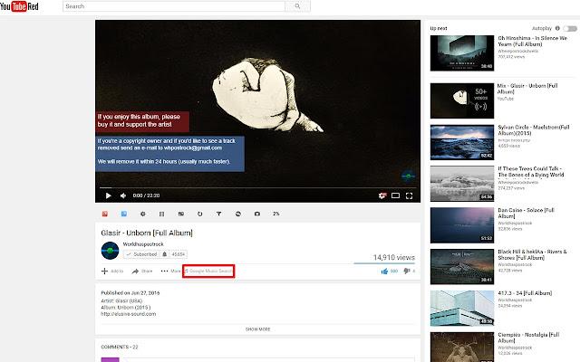 Youtube to Google Music