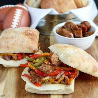 Italian Sausage and Bell Pepper Sandwiches.