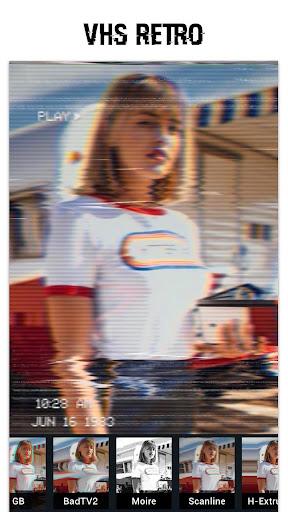 Foto do Glitch Foto Editor -VHS, efeito, vaporwave