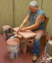 Photo: The Upper Midwest Indian Cultural Center, located inside the visitor center, sponsors demonstrations of pipemaking by native craftworkers using the stone from the quarries. Local Native Americans carve the stones using techniques passed down from their ancestors. Many of the demonstrators are third or fourth generation pipe makers. (2016 photo)