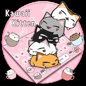 Pink Kawaii Kitten Keyboard Theme Mod