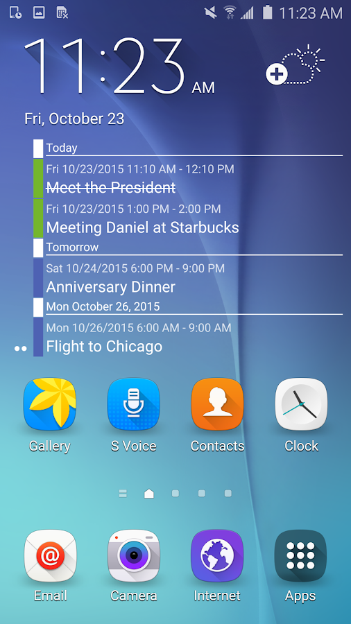 Clean Calendar Widget 2016- screenshot
