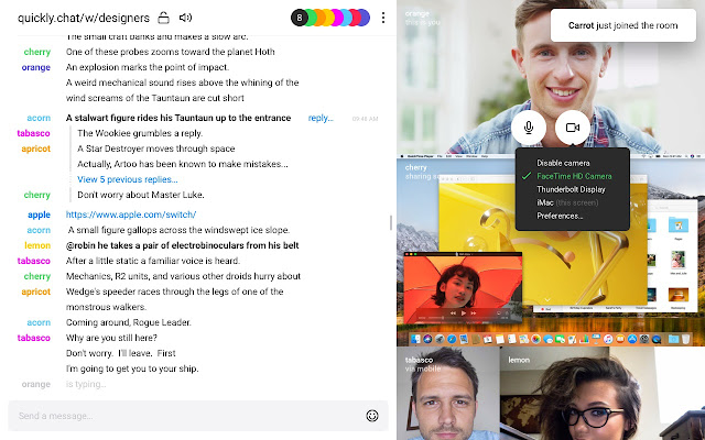 QuicklyChat Screen Sharing