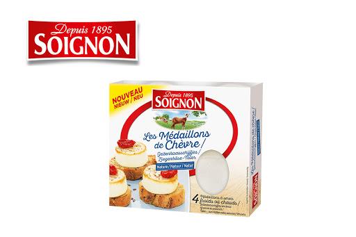 Bild für Cashback-Angebot: SOIGNON Ziegen-Frischkäse 4 Taler extra-mild