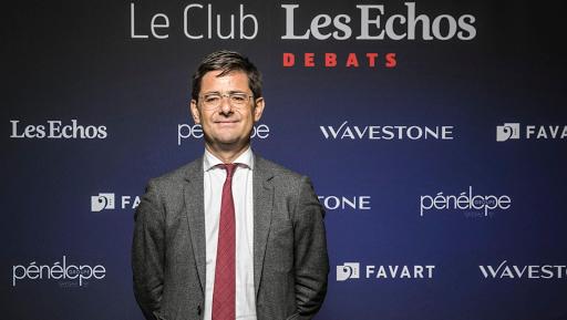 Nicolas Dufourcq, le directeur général de Bpifrance, au Club Les Echos Débats le 27 avril.