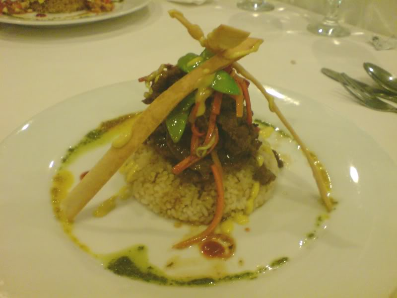 striploin with rice