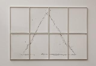 Photo: El intento II (Triángulo) 2014 Acrílico sobre 8 papeles de acuarela 164 x 242 cm