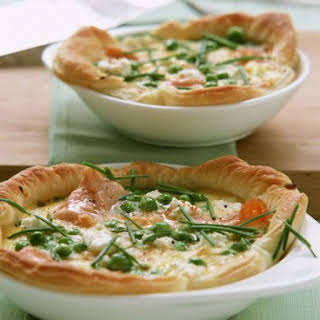Salmon and Pea Pastry Pie.
