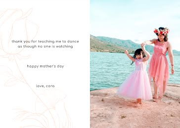 Teaching Me to Dance - Mother's Day Card template