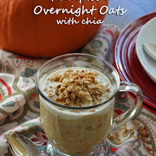 Pumpkin Overnight Oats with Chia