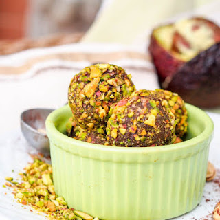 Honey Avocado Truffles with Pistachios {GF, DF} and a Giveaway!