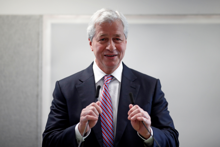 Jamie Dimon, CEO of JPMorgan Chase, attends the launching of the Advancing Cities Challenge, in Pantin, a suburb of Paris, France, on November 6 2018.