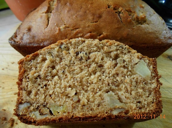 Banana Apple Walnut Bread Recipe
