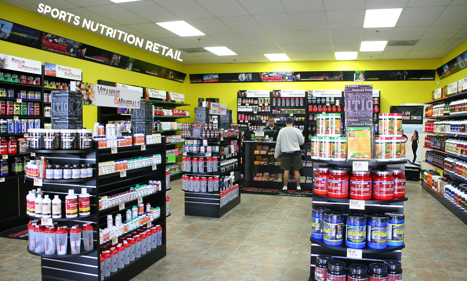sports nutrition retail
