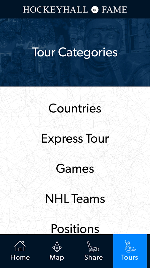 Hockey Hall of Fame Tour App- screenshot