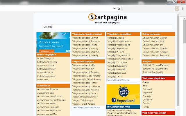 Startpagina Zoeken