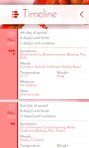 Period Tracker & Diary 6.0.1 screenshots 5