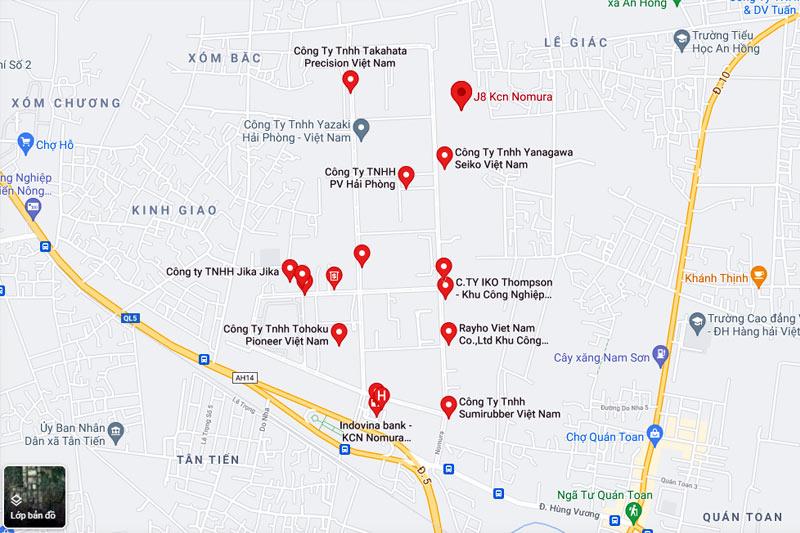 địa chỉ khu công nghiệp nomura