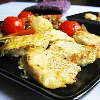 Juicy Chicken steak with vegetables