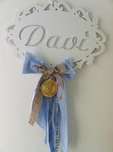 Photo: Na porta do quarto na maternidade... (presente dos dindos Neto e Cássia)
