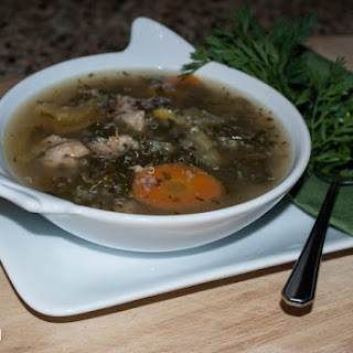 Herby Chicken Soup with Quinoa and Kale