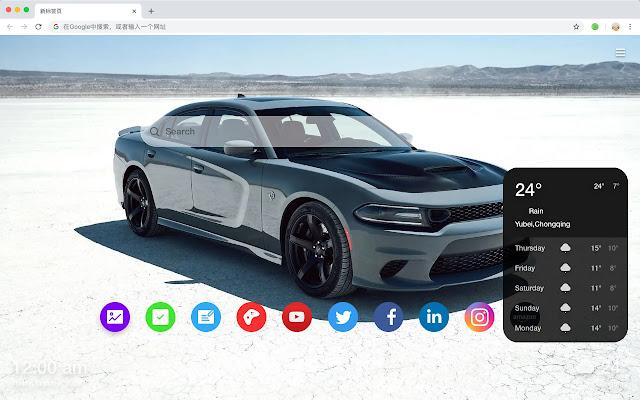Dodge Car Hot Car HD  New Tabs Theme