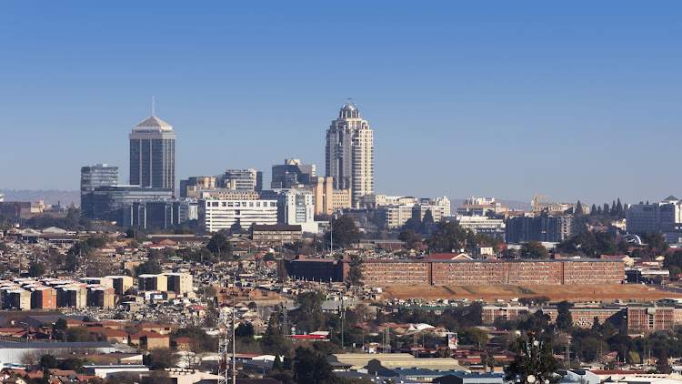Cityscape looking Northwest towards Sandton.