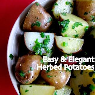 Easiest Herbed #Potatoes Ever! #SideDish #vegetarian.