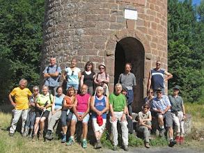 Photo: la tour du Wintersberg, photo de groupe