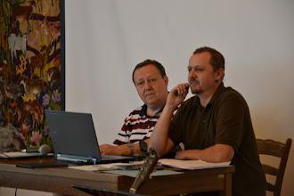 Photo: Mísotpředseda synodu Jaroslav Zajíček, předseda synodu Milan Svoboda