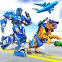 US Police Tiger Robot Game: Police Plane Transport icon
