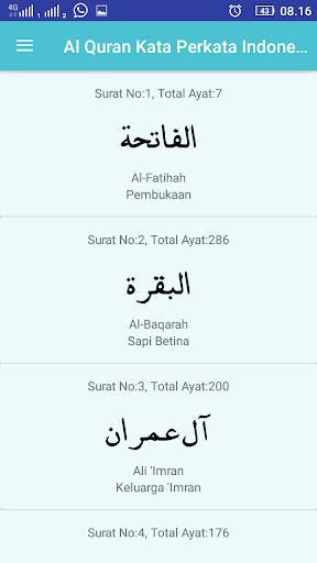 Al Quran Terjemah Kata Perkata Indonesia Inggris Revenue