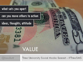 Photo: VALUE - What set's you apart from everyone else with your qualifications? Have you proven the ability to move people to action. Are you scoring points by proving intelligent ideas, thoughts and positive attitude?