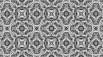 Photo: a kaleidoscope group: mirrors on the sides of a triangle with angles 45-45-90.