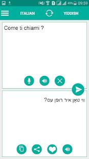Yiddish Italian Translator - náhled