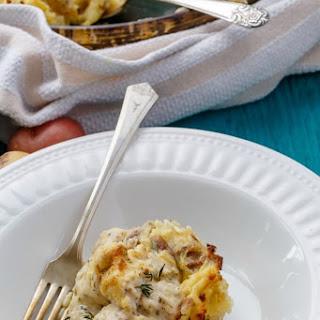 Mashed Potato Chicken Pie.